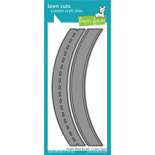 Lawn Fawn SIMPLE ROAD BORDER Lawn Cuts LF1363 Preview Image
