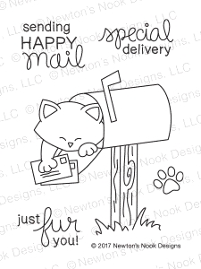 Newton's Nook Designs NEWTON'S HAPPY MAIL Clear Stamp Set 20170104 zoom image
