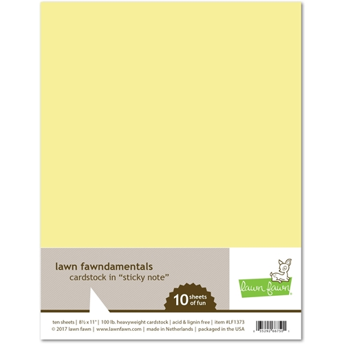 Lawn Fawn STICKY NOTE Cardstock LF1373 Preview Image