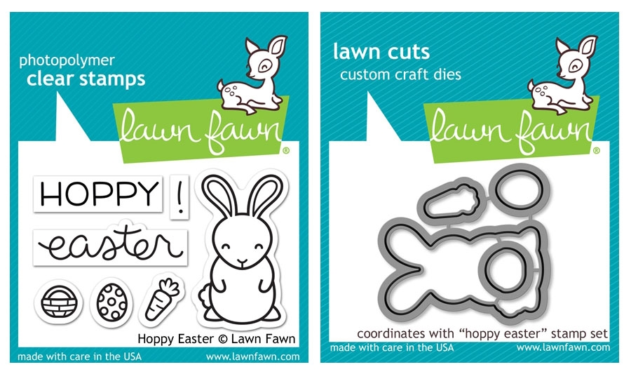 Lawn Fawn SET LF17SETHE HOPPY EASTER Clear Stamps and Dies zoom image