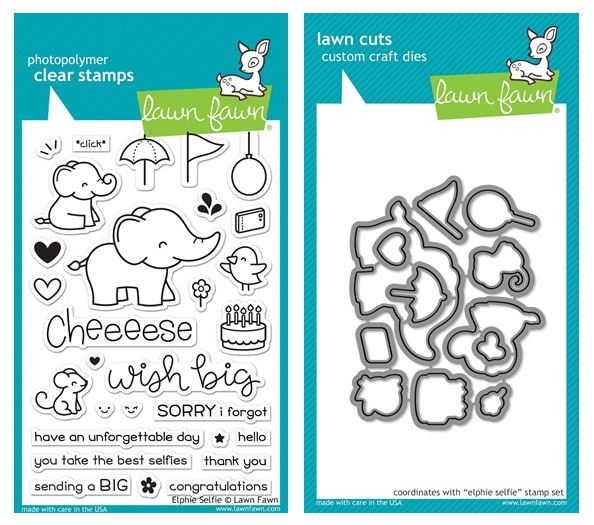 Lawn Fawn Elphie Selfie Clear Stamp and Die Set