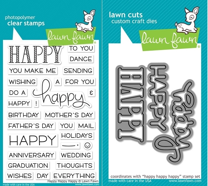 Lawn Fawn SET LF17SETHHH HAPPY HAPPY HAPPY Clear Stamps and Dies zoom image