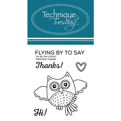 Technique Tuesday FLY BY OWL Clear Stamps 02393 Preview Image