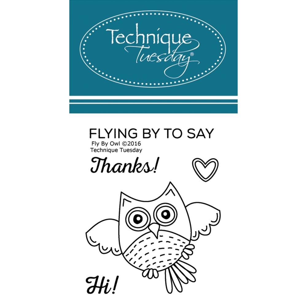 Technique Tuesday FLY BY OWL Clear Stamps 02393 zoom image