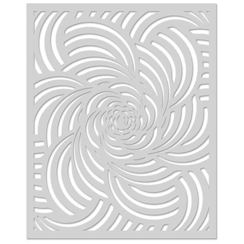 Hero Arts Stencil SPIRAL PETALS SA095 Preview Image