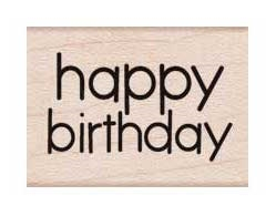 Hero Arts Rubber Stamps HAPPY BIRTHDAY MESSAGE A6208 zoom image