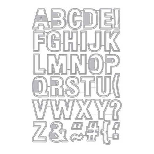 Hero Arts Frame Cuts LUGGAGE TAG ALPHABET DI342 Preview Image