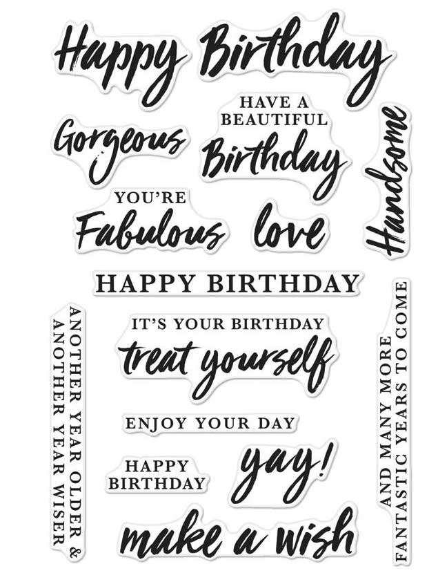 Hero Arts Clear Stamps BIRTHDAY MESSAGES CM136 zoom image