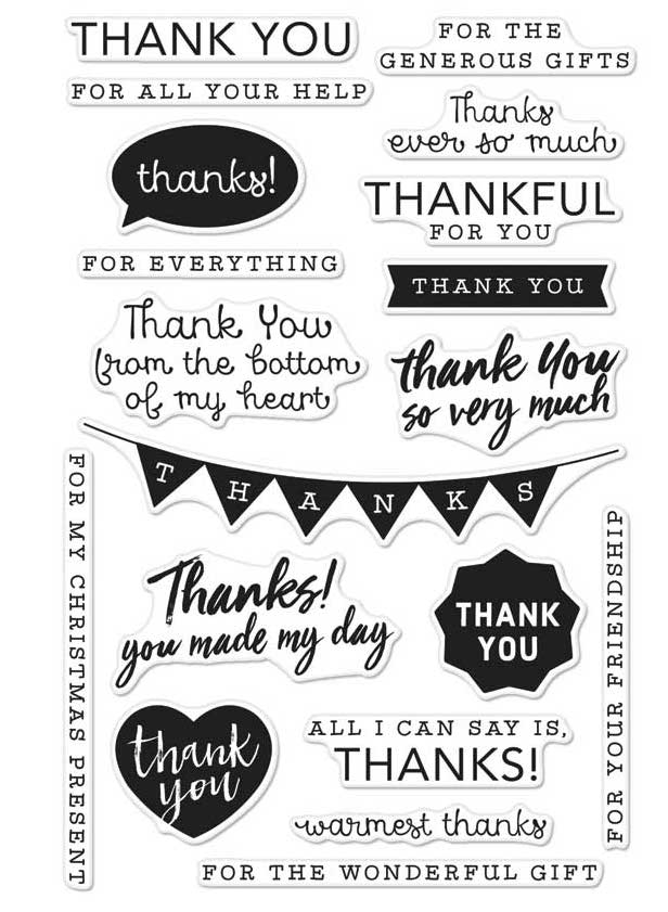 Hero Arts Clear Stamps THANK YOU MESSAGES CM135 zoom image