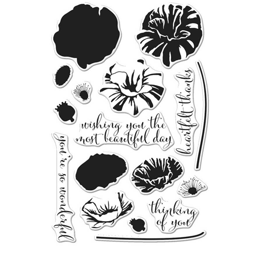 Hero Arts Clear Stamps Color Layering POPPY CM144 Preview Image