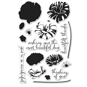 Hero Arts Clear Stamps Color Layering POPPY CM144
