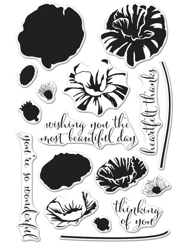 Hero Arts Clear Stamps Color Layering POPPY CM144 zoom image