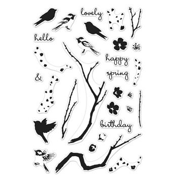 Hero Arts Clear Stamps Color Layering BIRDS AND BLOSSOMS CM129*