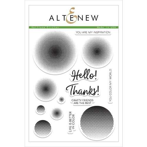 Altenew HALFTONE CIRCLES Clear Stamp Set ALT1505 Preview Image