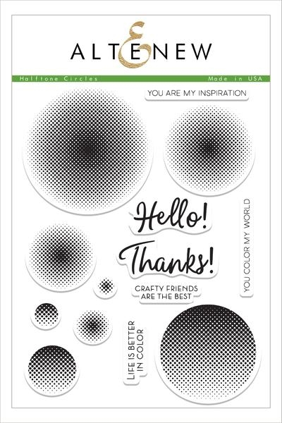 Altenew HALFTONE CIRCLES Clear Stamp Set ALT1505 zoom image