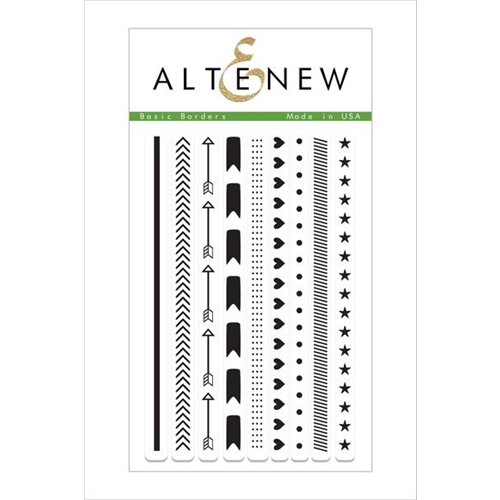 Altenew BASIC BORDERS Clear Stamp Set ALT1497 Preview Image