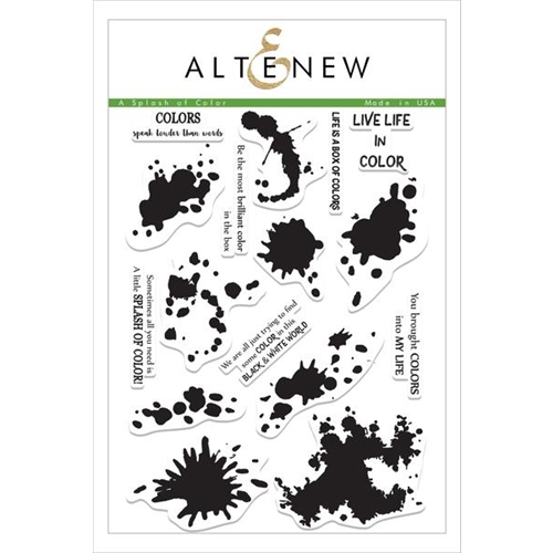 Altenew A SPLASH OF COLOR Clear Stamp Set ALT1495 Preview Image