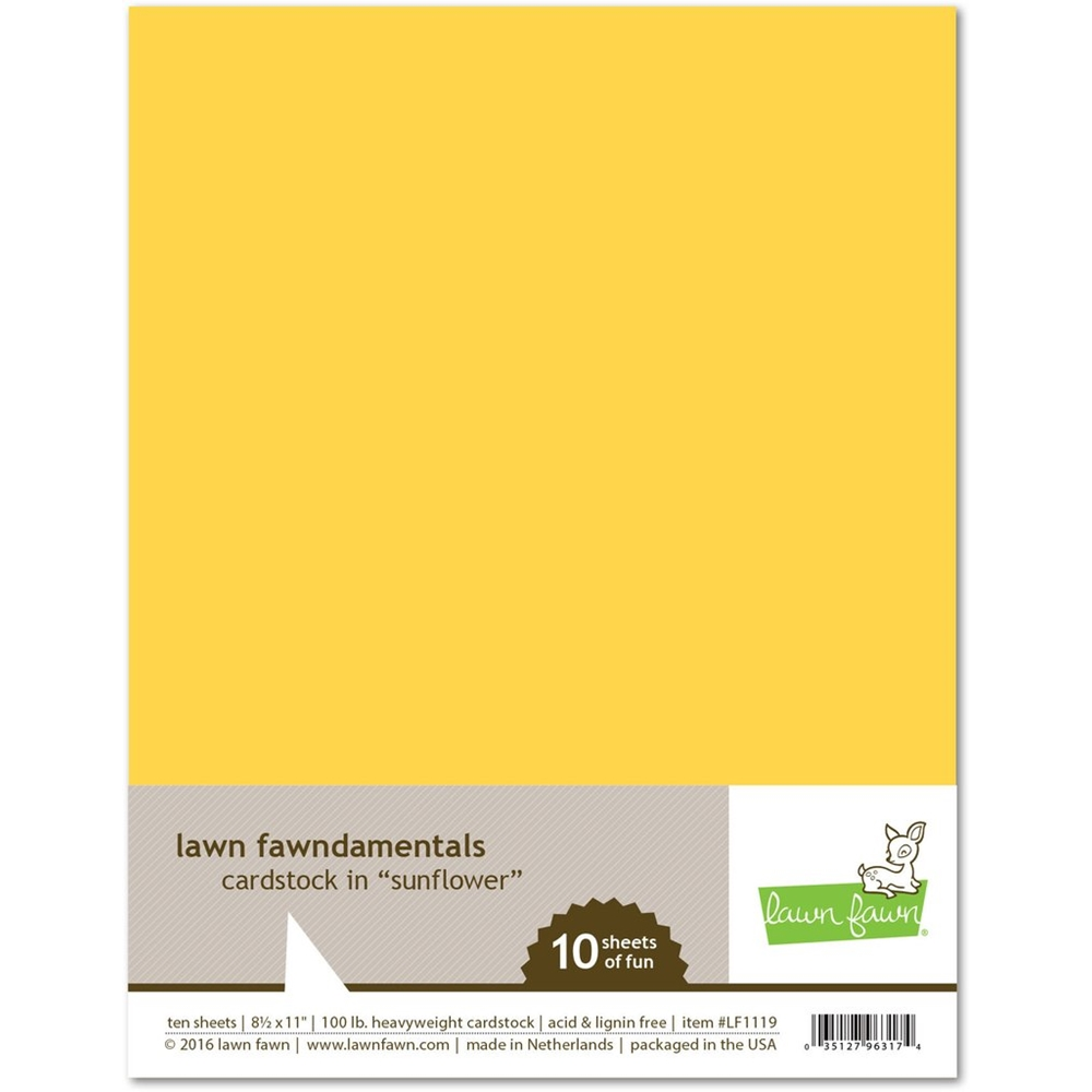 Lawn Fawn SUNFLOWER Cardstock LF1119 zoom image