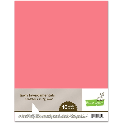 Lawn Fawn GUAVA Cardstock LF1117 Preview Image