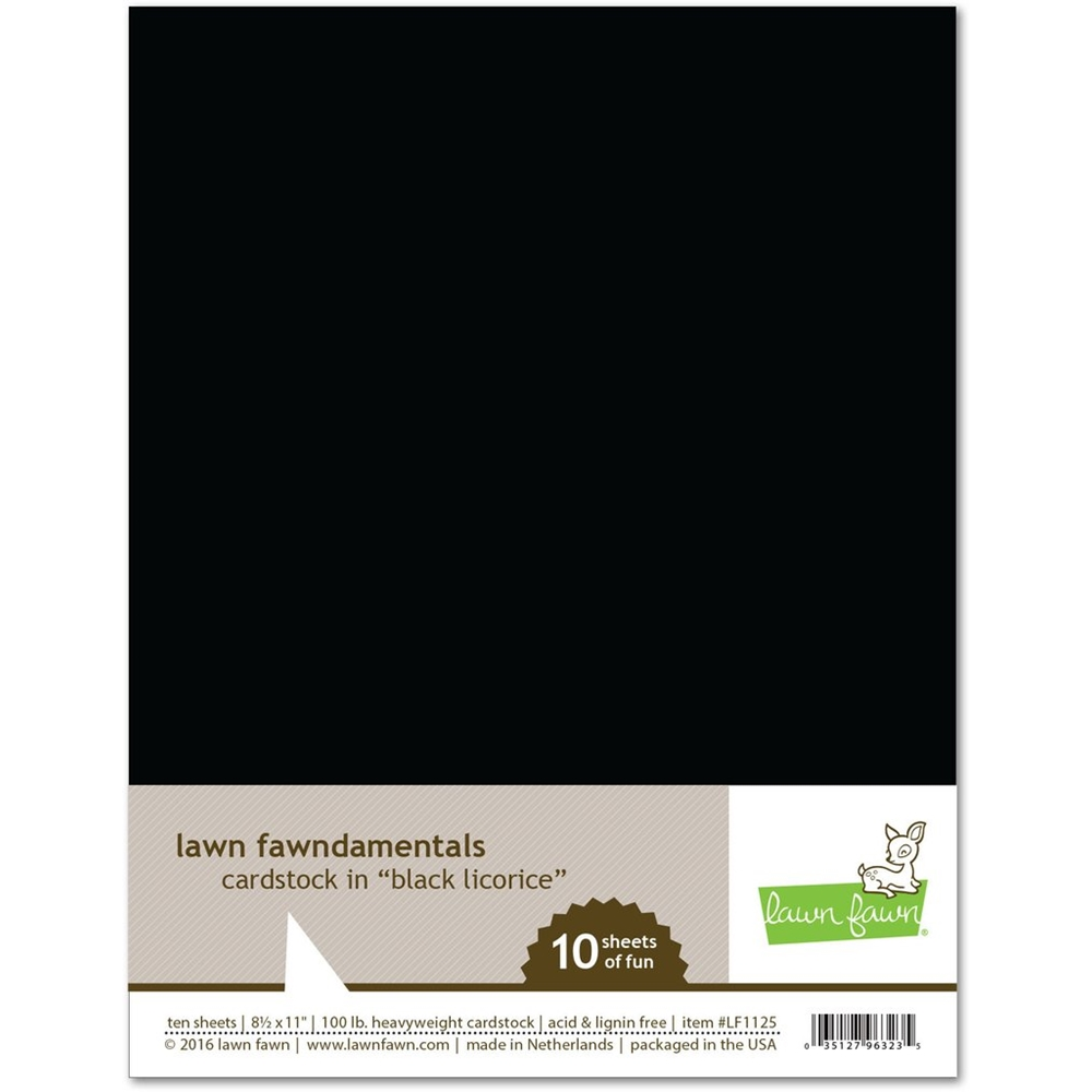 Lawn Fawn BLACK LICORICE Cardstock LF1125 zoom image