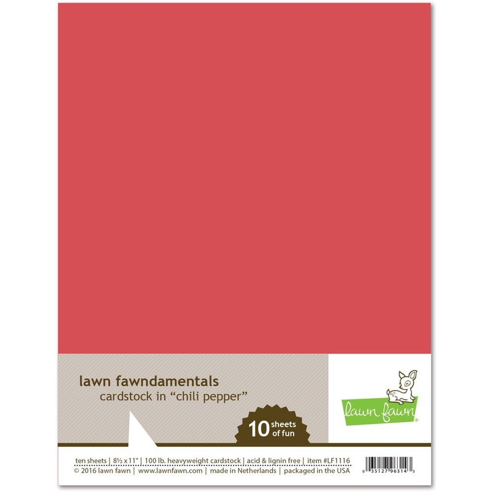 Lawn Fawn CHILI PEPPER Cardstock LF1116 zoom image