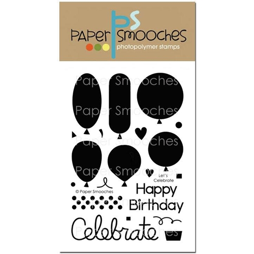 Paper Smooches LET'S CELEBRATE Clear Stamps FBS278 Preview Image