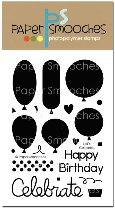 Paper Smooches LET'S CELEBRATE Clear Stamps FBS278 zoom image