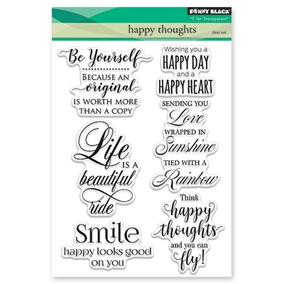 Penny Black Clear Stamps HAPPY THOUGHTS 30-416 zoom image