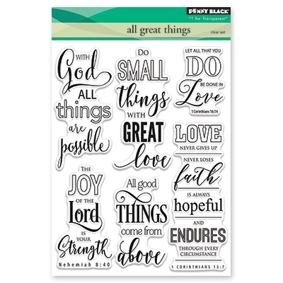 Penny Black Clear Stamps ALL GREAT THINGS 30 406 Preview Image