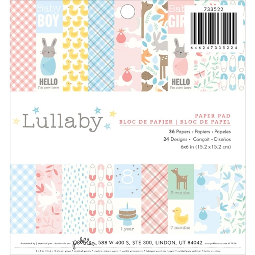 Pebbles Inc. LULLABY 6x6 Paper Pad 733522 Preview Image