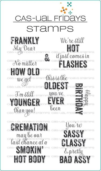 CAS-ual Fridays FRANKLYISMS Clear Stamps CFS1707 zoom image