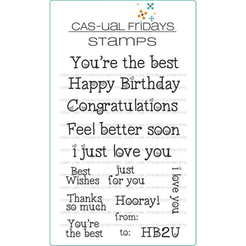 Casual Fridays Heartfelt Sayings Clear Stamp Set