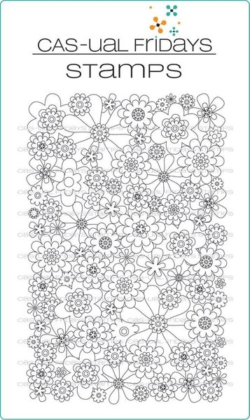 CAS-ual Fridays FULL ON FLORAL Clear Stamps CFS1702 zoom image