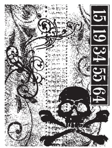 Tim Holtz Rubber Stamp SKULL COLLAGE P4-1294