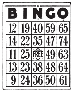 Tim Holtz Rubber Stamp BINGO CARD Game M4-1279