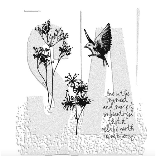 Tim Holtz Cling Rubber Stamps NATURE'S MOMENTS CMS001 Preview Image