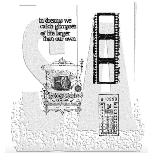 Tim Holtz Cling Rubber Stamps Set CAPTURED MOMENTS CMS037 Preview Image