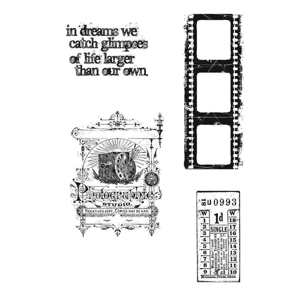 Tim Holtz Cling Rubber Stamps CAPTURED MOMENTS CMS037  zoom image