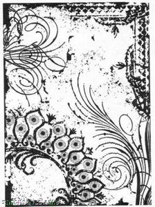 Tim Holtz Cling Rubber ATC Stamp FLOURISH COM001