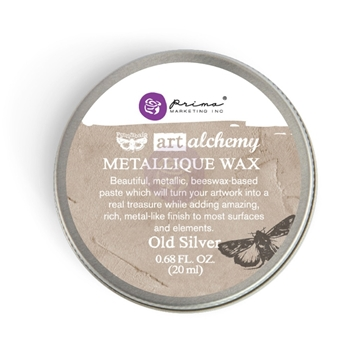 Prima Marketing OLD SILVER Art Alchemy Metallique Wax 963996