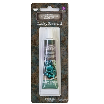 Prima Marketing LUCKY EMERALD Finnabair Art Alchemy Brilliance Wax 964344