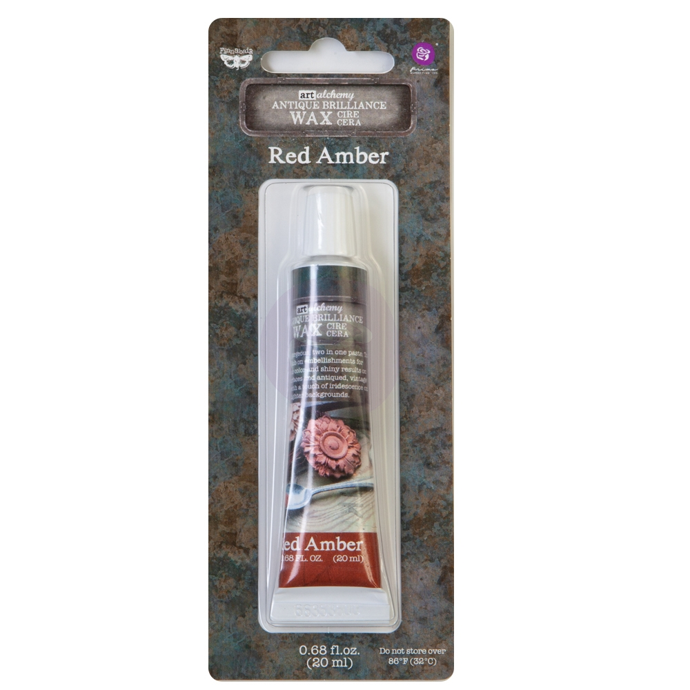 Prima Marketing RED AMBER Finnabair Art Alchemy Brilliance Wax 964313 zoom image