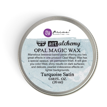 Prima Marketing TURQUOISE SATIN Art Alchemy Opal Magic Wax 964276