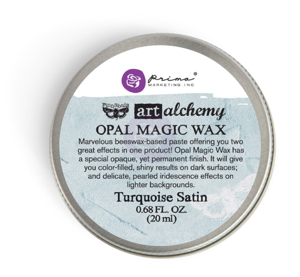 Prima Marketing TURQUOISE SATIN Art Alchemy Opal Magic Wax 964276 zoom image