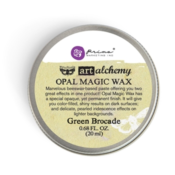 Prima Marketing GREEN BROCADE Finnabair Art Alchemy Opal Magic Wax 964245