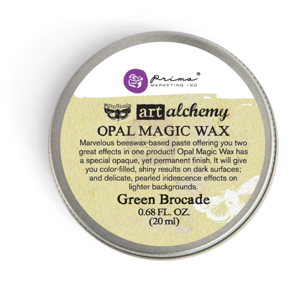 Prima Marketing GREEN BROCADE Art Alchemy Opal Magic Wax 964245 zoom image