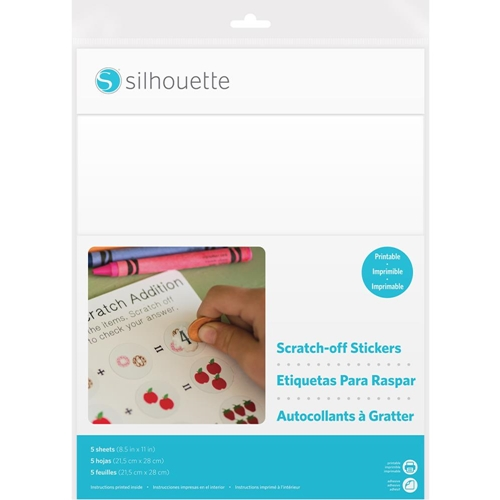 Silhouette PRINTABLE White Scratch Off Sticker Sheets 02200* Preview Image