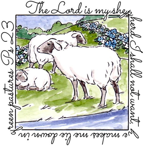 Art Impressions SHEPHERD WINDOW To The World Clear Stamp 4882 Preview Image