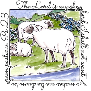 Art Impressions SHEPHERD WINDOW To The World Clear Stamp 4882*