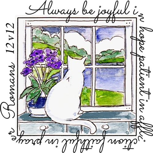 Art Impressions BE JOYFUL WINDOW To The World Clear Stamp 4877 Preview Image